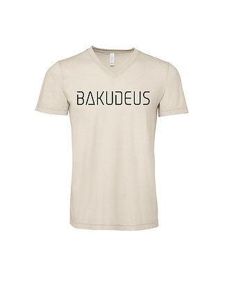 UNISEX BAKUDEUS V-NECK TEE - HEATHER DUST