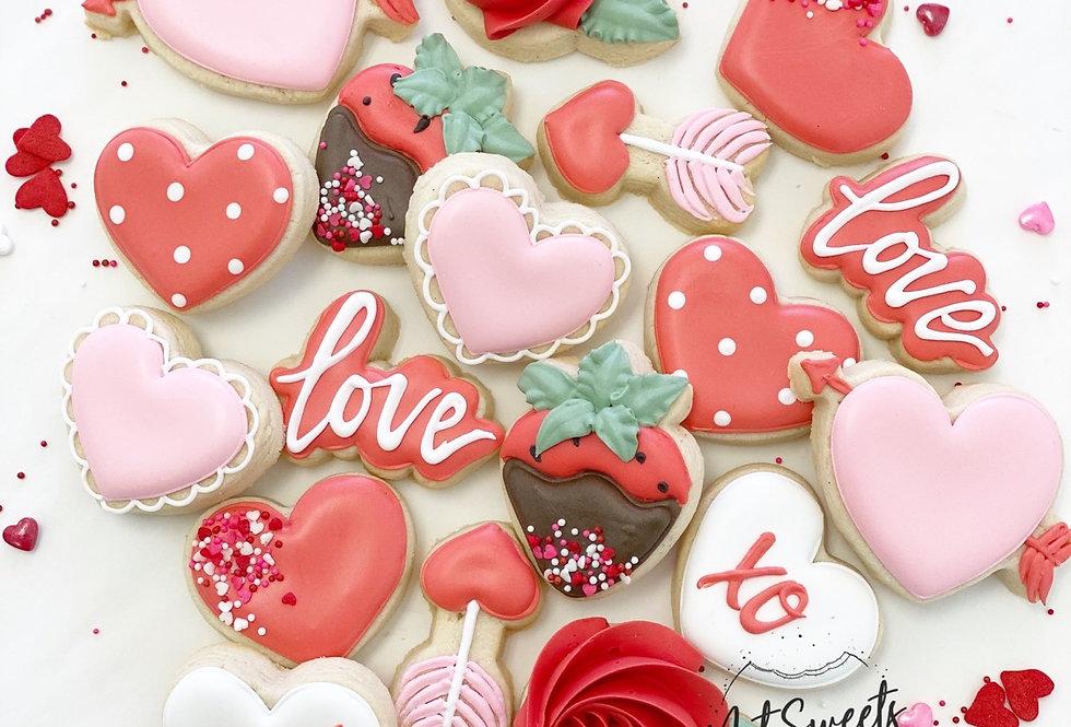 One dozen Valentine's Day Minis