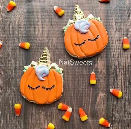 Pumpkin Unicorn Cookie