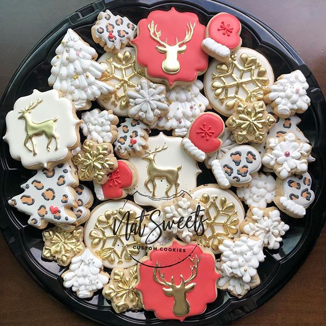 ❤️Holiday platter for _gflboutique ❄️Sno