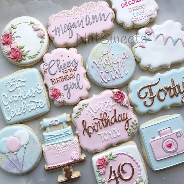 Birthday cookies for _meganannphotograph