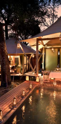 A touch of luxury in the Okavango Delta