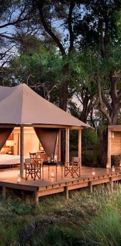 The luxury of Nxabega Okavango Tented Camp