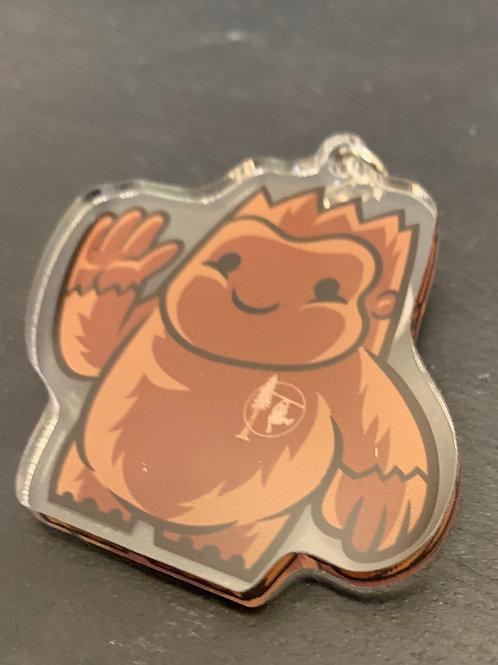 Keychain  Baby Bigfoot Acrylic