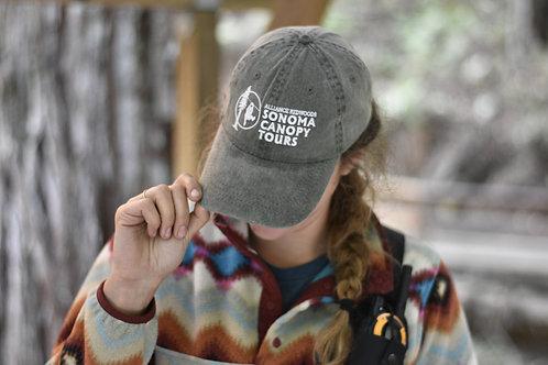 Sonoma Zipline Adventures Charcoal Black Hat