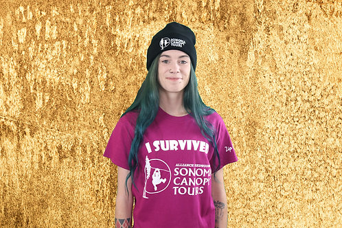 """""""I Survived"""" Sonoma Canopy Tours T-Shirt"""