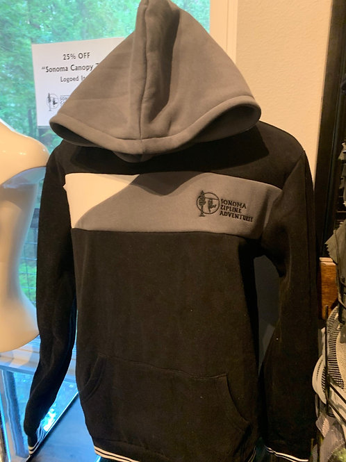 Black and Grey Men's  Athletic Hoodie