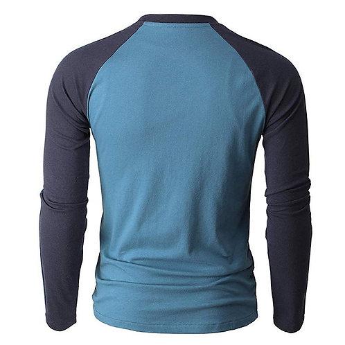 Men's Blue Long Sleeve