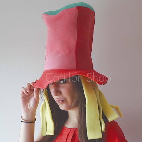 Sombrero con pelos