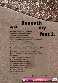 Week 16 writing exercise - Beneath my fe