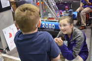 Bayou Regionals - Shaylee Puls talking with young child.JPG