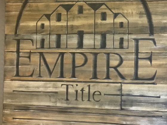 Rustic logo on canvas for a local biz in their new location