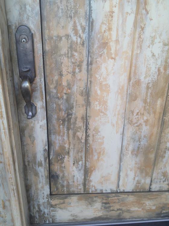 Distressed front door