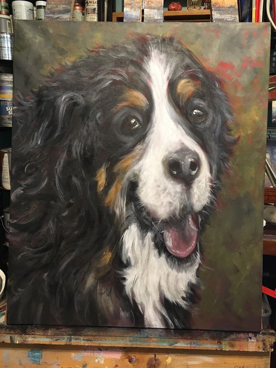 Portrait of a client's best friend