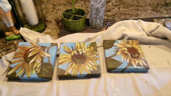 Custom paintings on canvas, board, tile, fabrics
