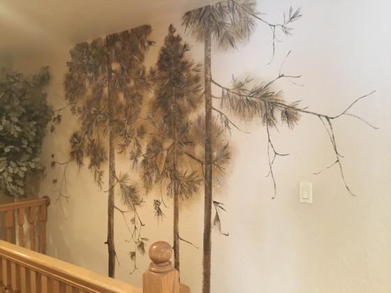 Stairway pines