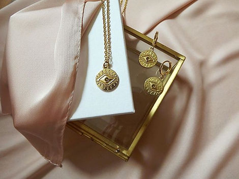 Shop our 22K gold plated pieces now, onl