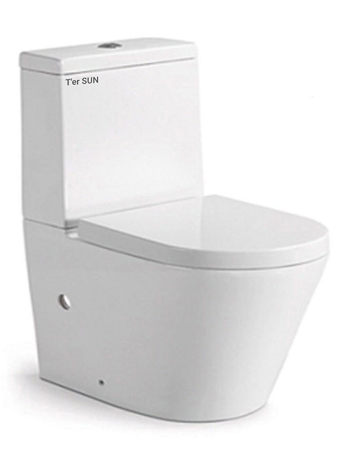 WELS Wall-Faced Soft Close Ceramic Toilet Suite With Double Flat Seat