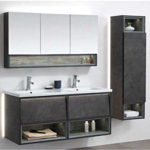 1200mm Soft-Close Vanity + Double Ceramic Basin Top