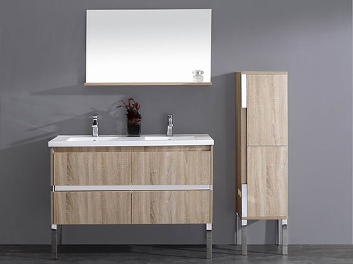 Wall Hung/Free Standing 1200mm Soft-Close Vanity + Double Ceramic Basin Top