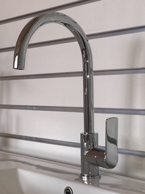 T'er SUN Solid Brass with Chrome Finish Kitchen Mixer