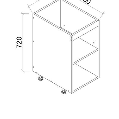 High Gloss Kitchen single/double door floor cabinet 200-800mm