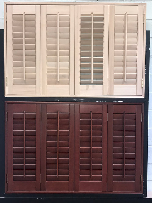 Regular Shape PVC/ Basswood Shutter 25 Colours available