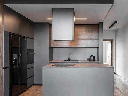 Southbank - Dark Grey MDF 2pc Custom Kitchen