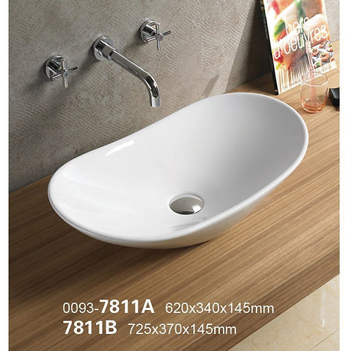 Oval Above Counter Top Basin 7811A