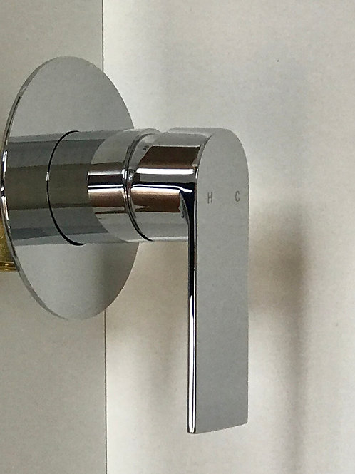 T'er SUN Solid Brass with Chrome Finish Shower Wall Mixer