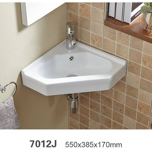 Wall Hung or Above Counter Corner Basin