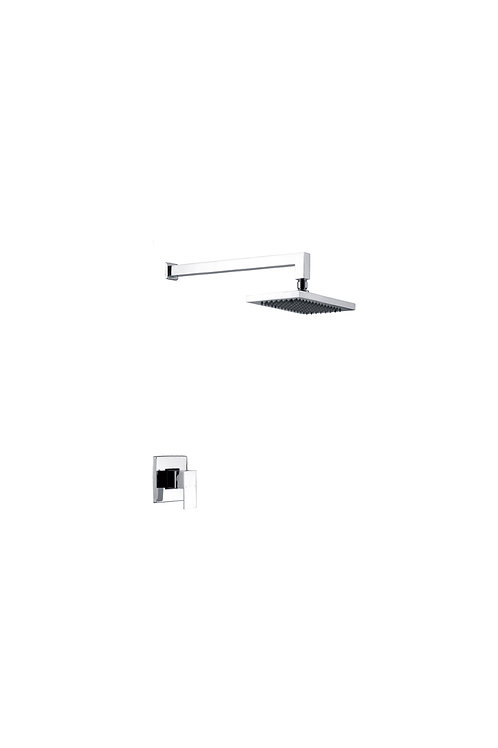 In-wall square shower head