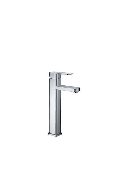 Tall square basin mixer
