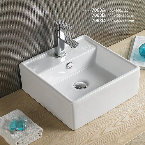 Wall Hung or Over Counter Basin 7063B
