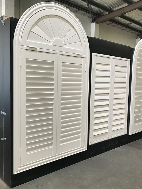Odd Shape PVC / Basswood Shutters 25 Colours available