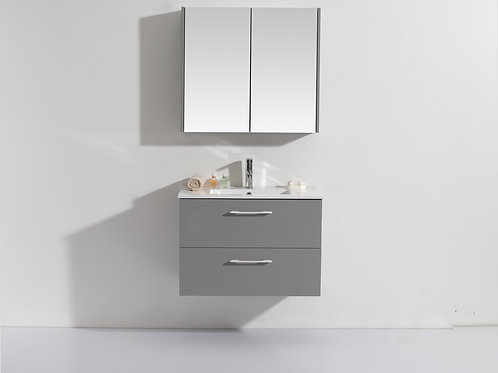 Wall Hung 600mm Soft-Close Vanity Unit+Ceramic Basin Top