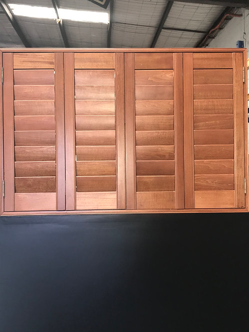 Regular Shape PVC / Basswood Shutters 25 Colours available