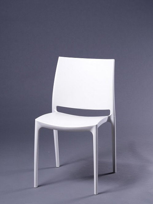 White Molded Plastic Chair