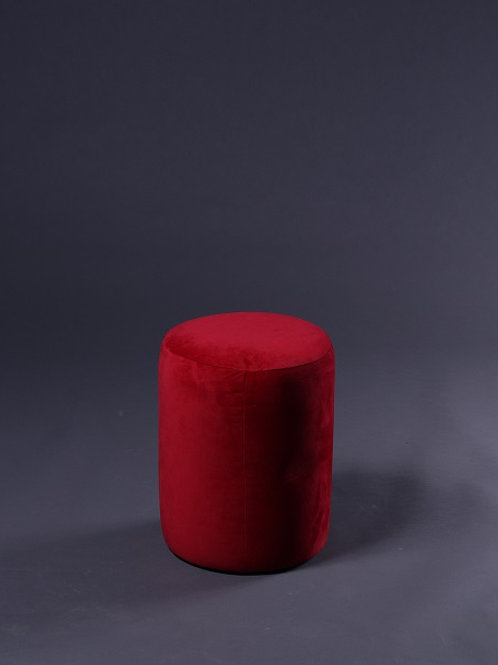 Round Ottoman (Red)