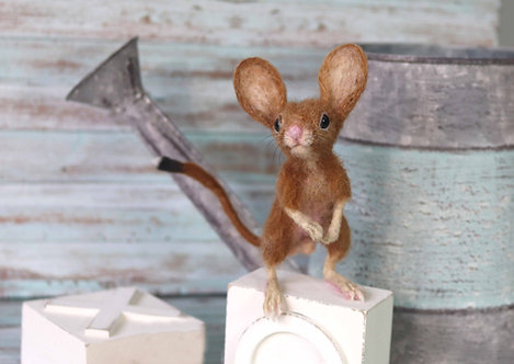 Baby Hopping Mouse Sculpture