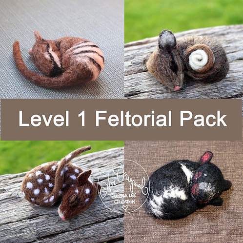 Level 1 PACK, Numbat, Possum, Quoll, Tassie Devil