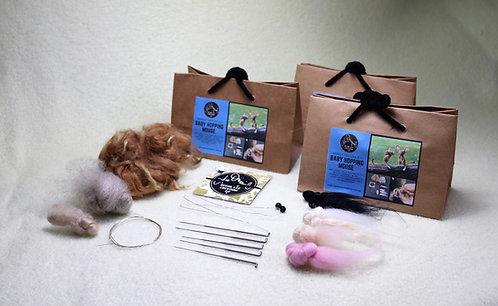 Baby Hopping Mouse Felting Kit