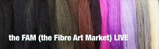 the FAM (the Fibre Art Market) LIVE.