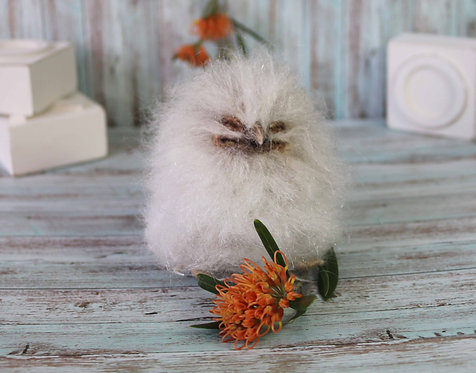 Baby Tawny Frogmouth Sculpture