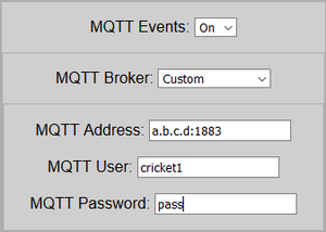 Configure MQTT broker to instruct Cricket to send payload directly to the server