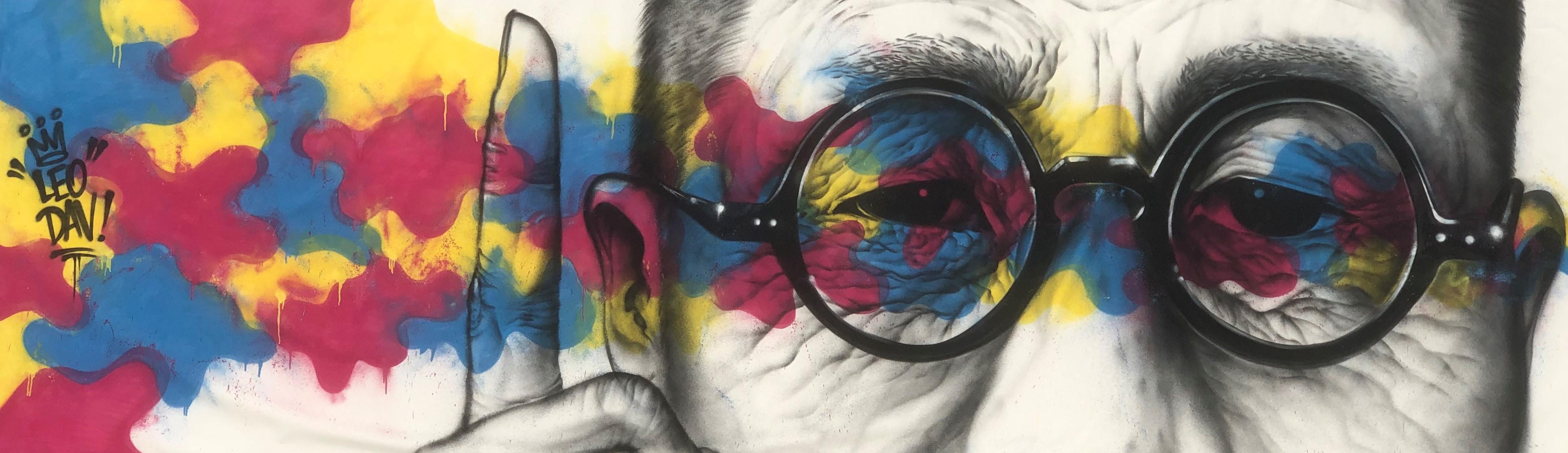 백범 김구 - 백년의 눈빛 그래피티
