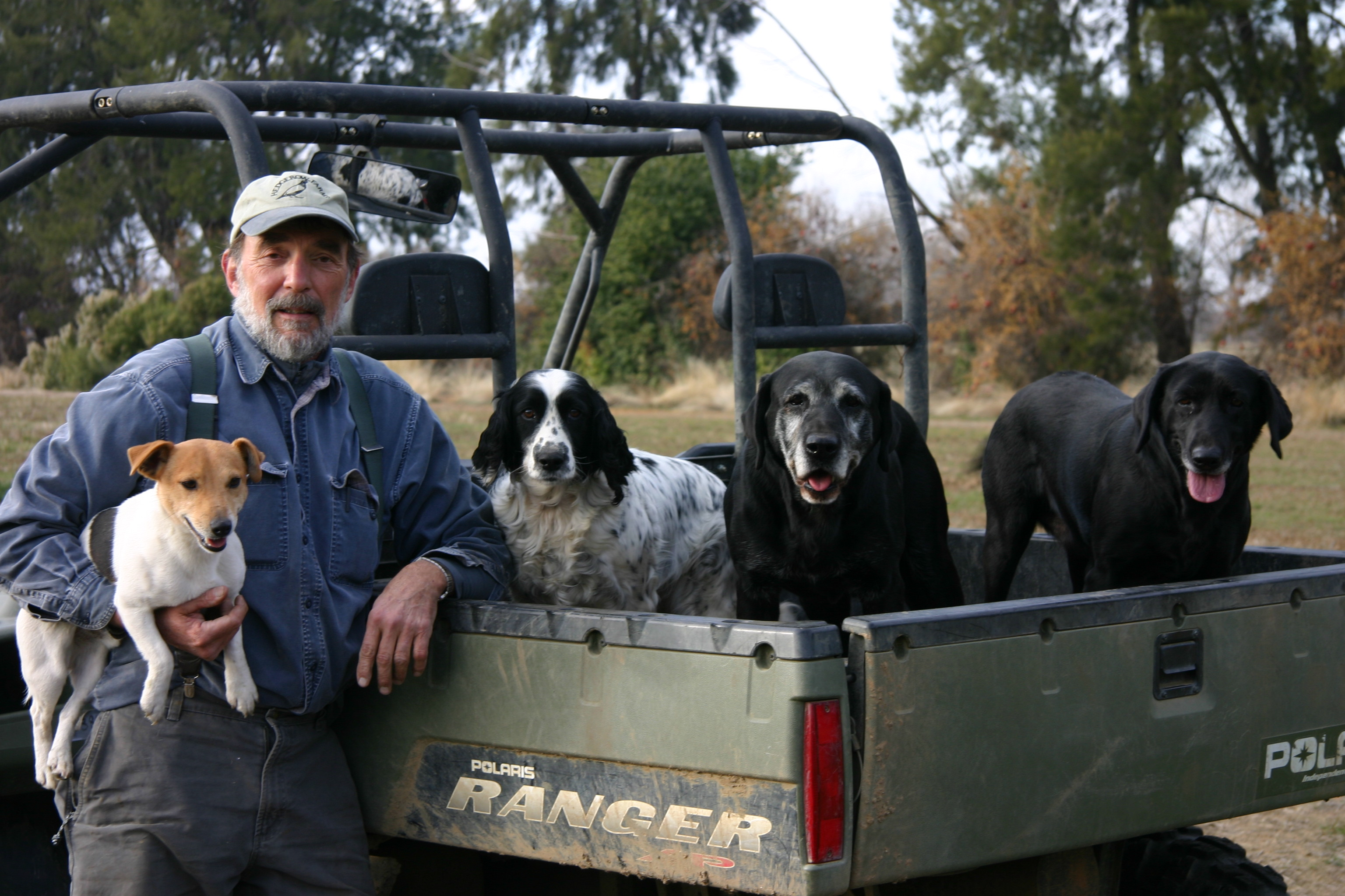 John Anderson and his dogs