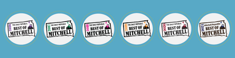 """Thank you for voting us """"Best of Mitchell"""" for six straight years!"""