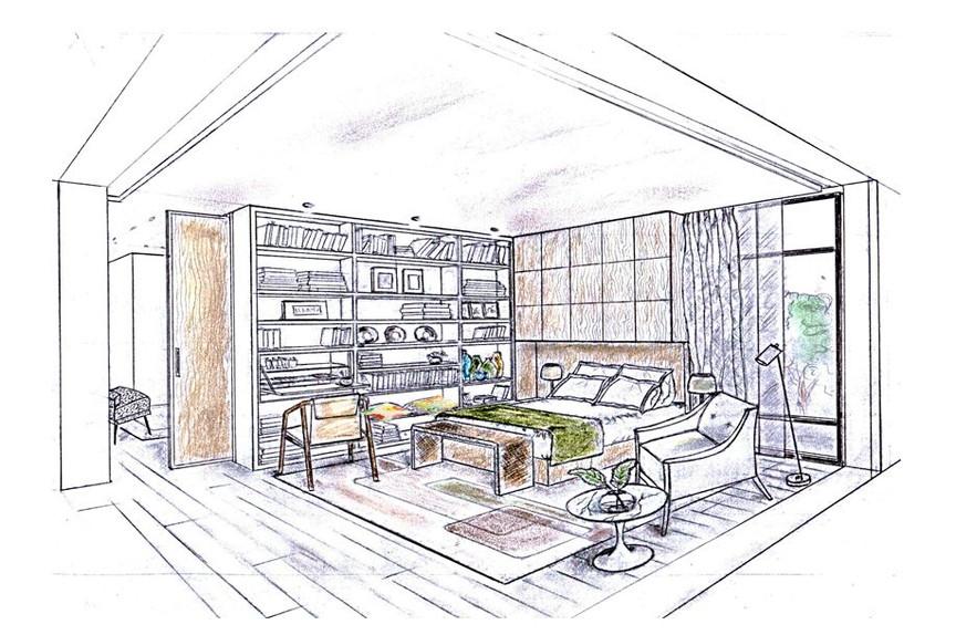 Douillette et bien agencée,  avec une petite bibliothèque et un rangement astucieux, cette chambre est un petit cocon de calme et sérénité.
