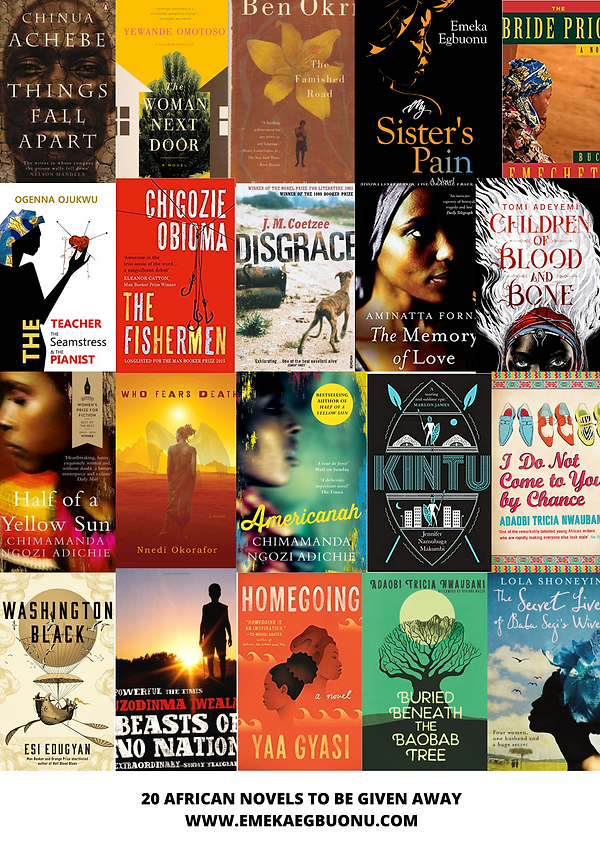 20 AFRICAN NOVELS O BE GIVEN AWAY.png